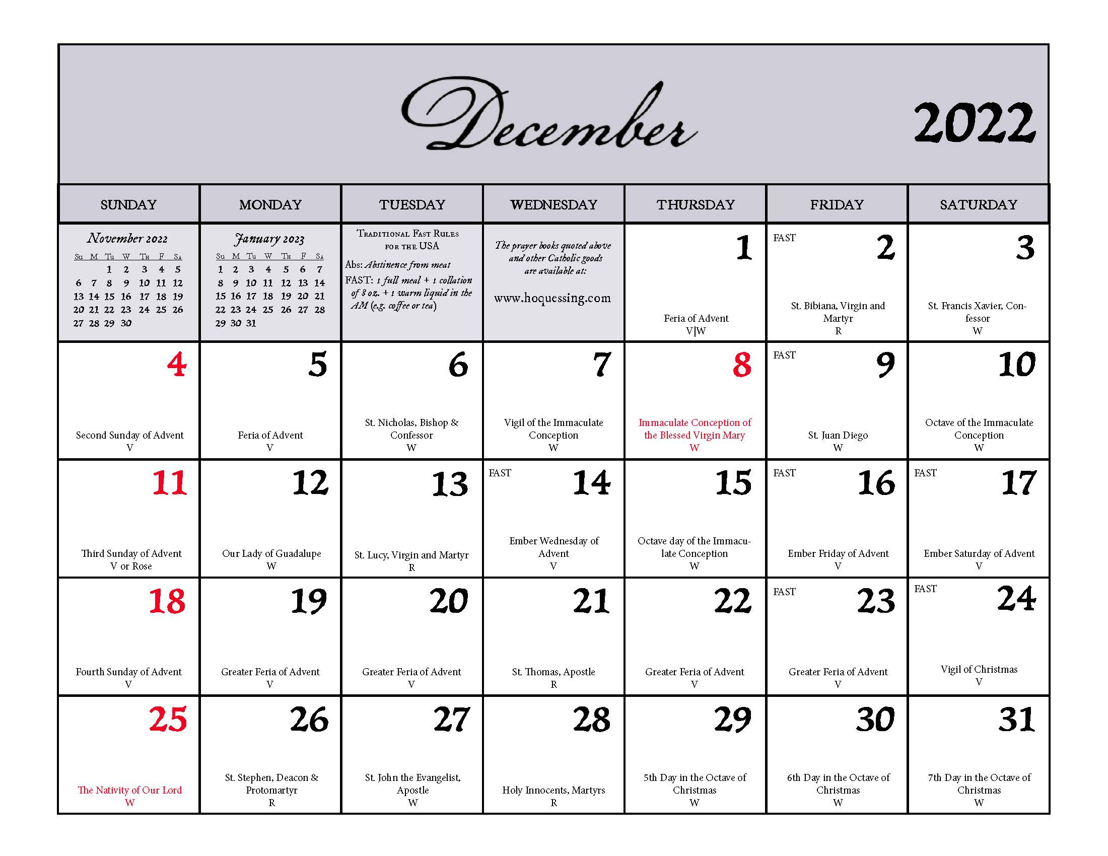 Ancilla Press 2022 Calendar